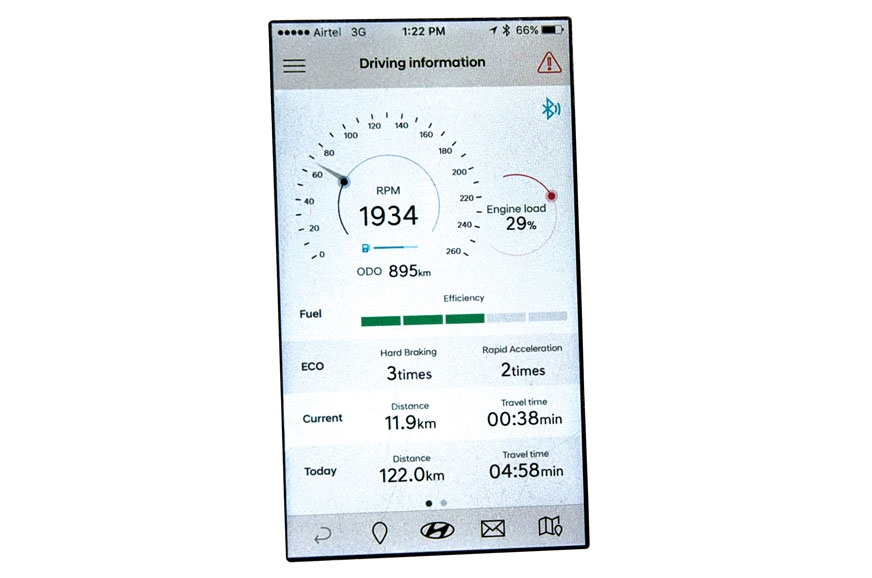 Hyundai's Auto Link connects to the car's OBD port and re...