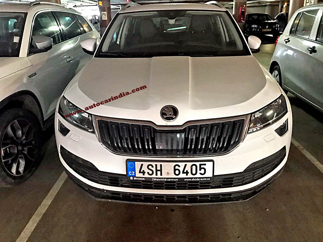 Skoda Karoq spied in India