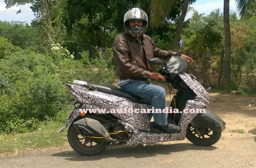 Upcoming TVS 125cc Scooter caught on test