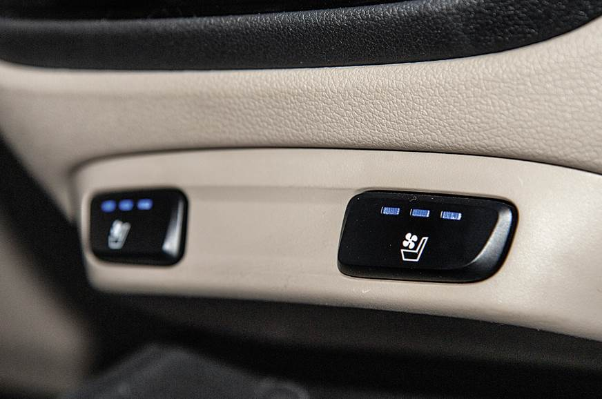 The ventilated seats in the Verna, a segment-first featur...