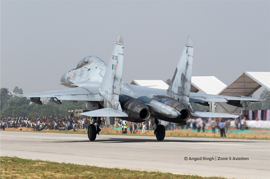 Indian Air Force Sukhoi Su-30MKI.