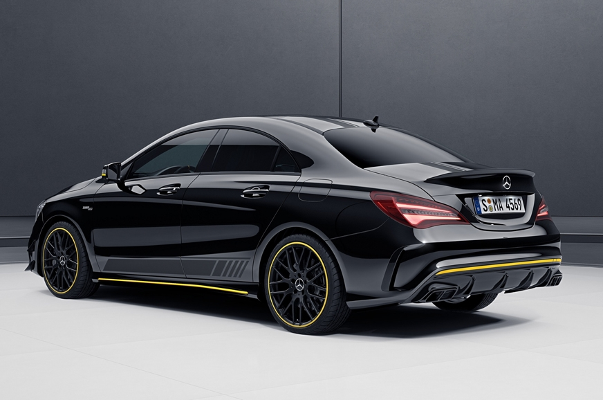 Mercedes-AMG CLA 45 four-door coupe.