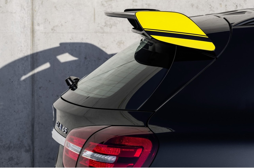 New rear spoiler on the GLA 45 AMG.