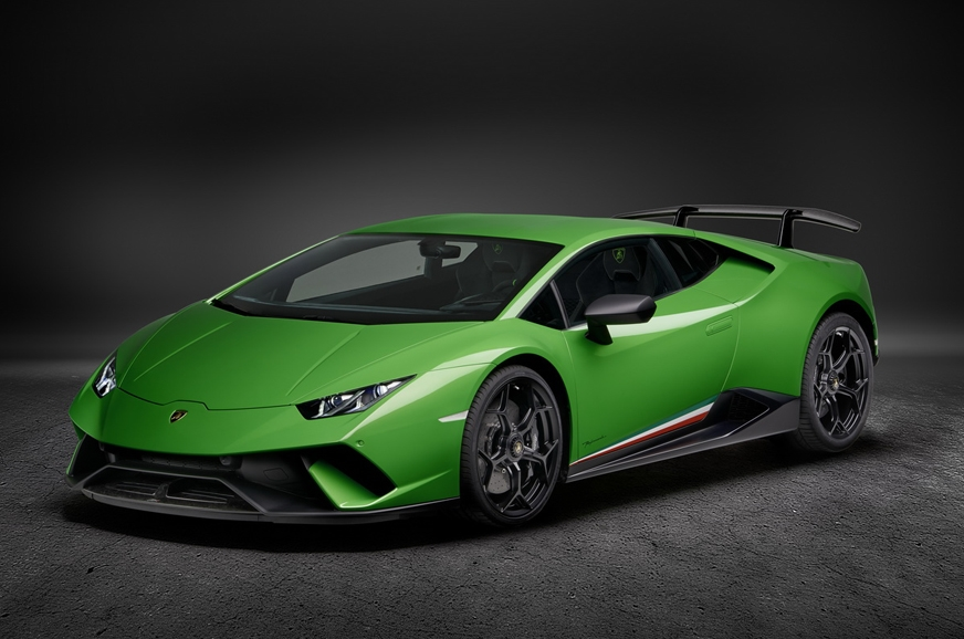 The current range-topping Huracan, the Performante.
