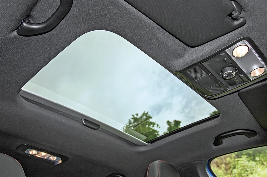 The Octy RS' electric sunroof is nice to have.