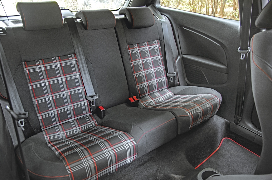 Space at the rear of the GTI is very poor and getting int...