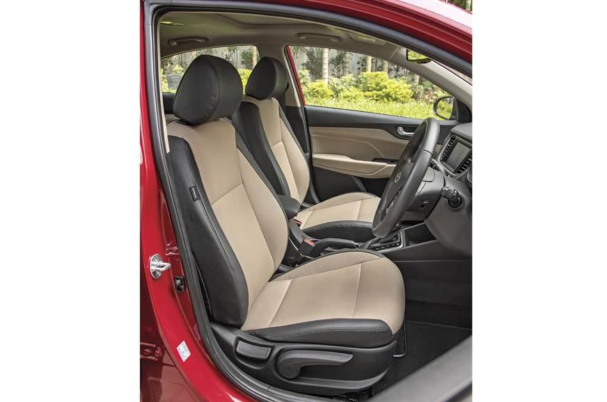 Verna's ventilated front seats unique in segment.