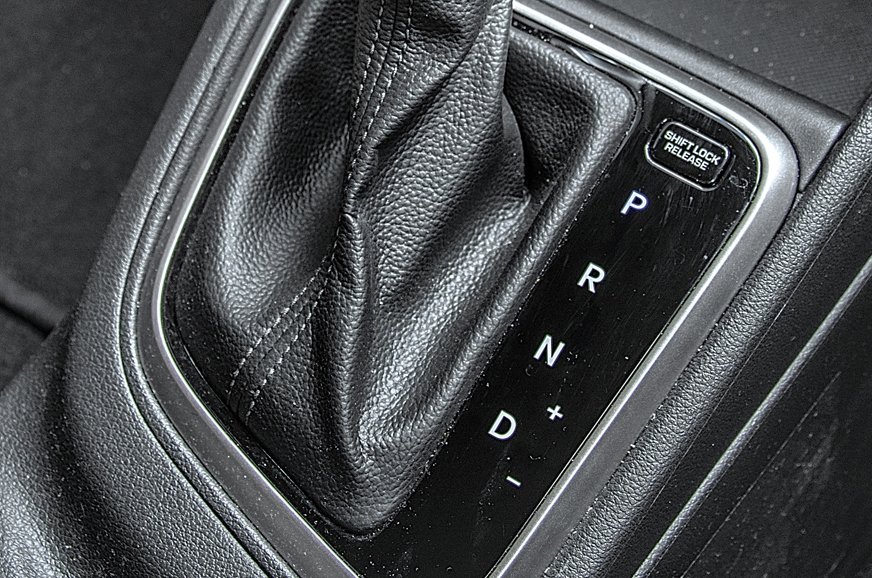 Verna lets you effect manual shifts via gear lever.