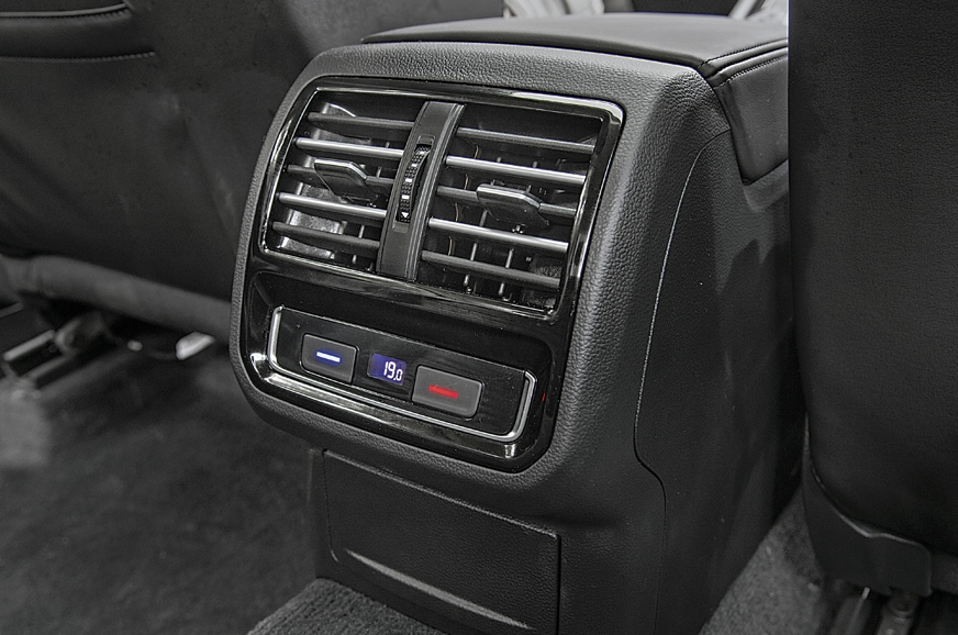 3-zone climate control with rear vents.