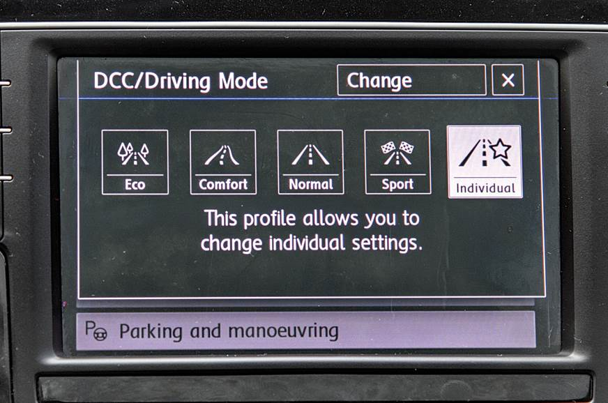 Drive modes alter damper settings too.