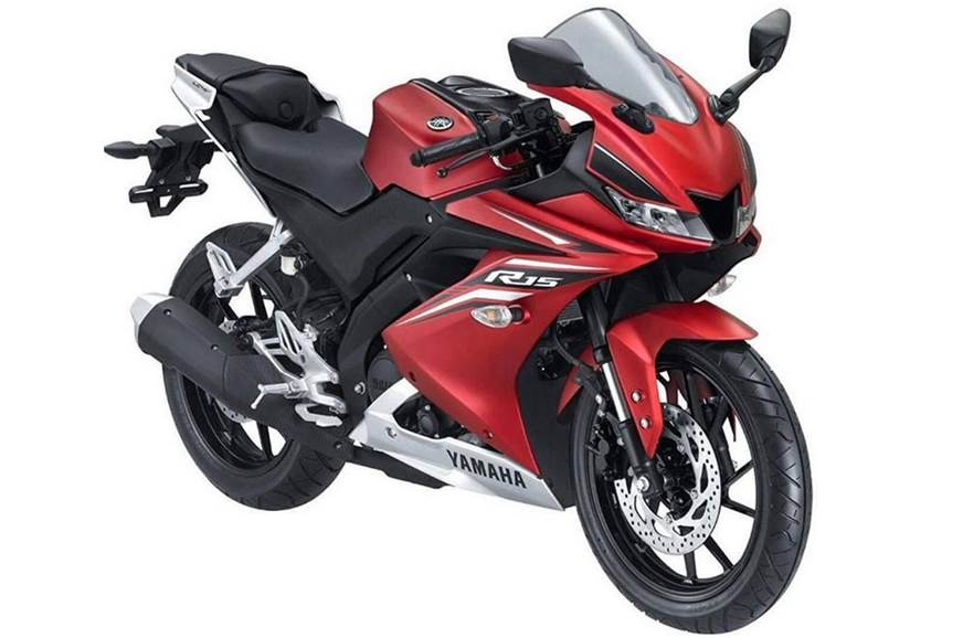 The R15 V 3.0 finished in red.