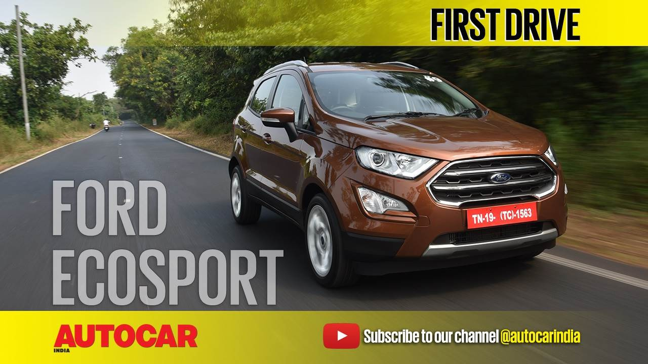2017 Ford EcoSport diesel, petrol AT video review