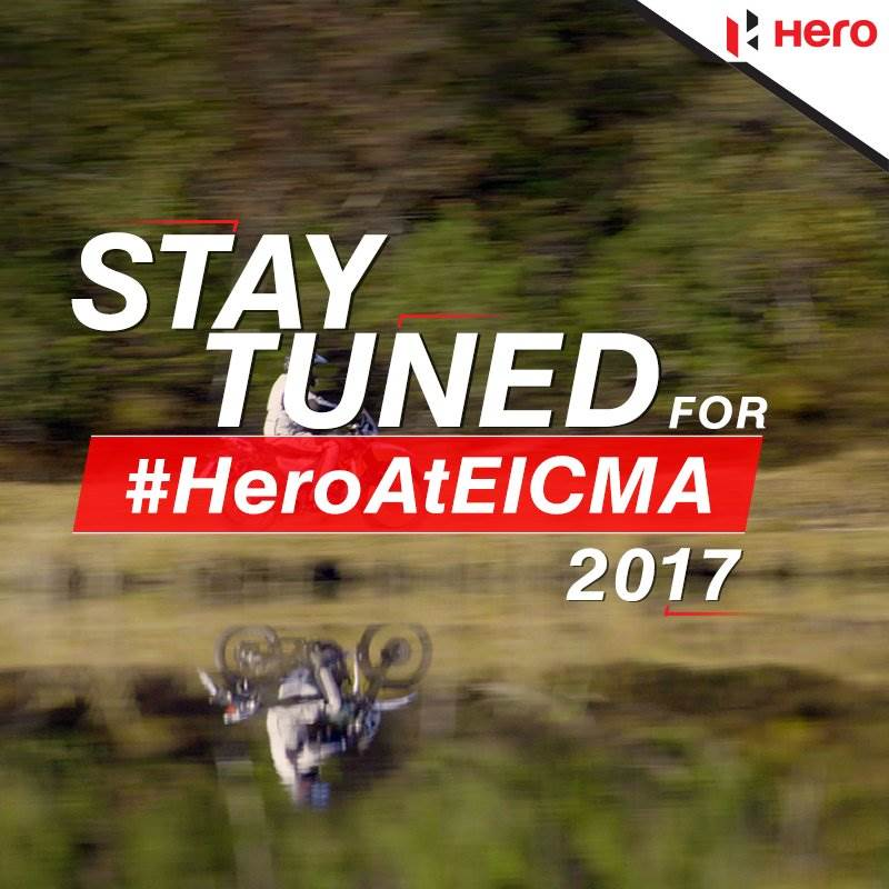 Hero teases its small adventure motorcycle before EICMA debut