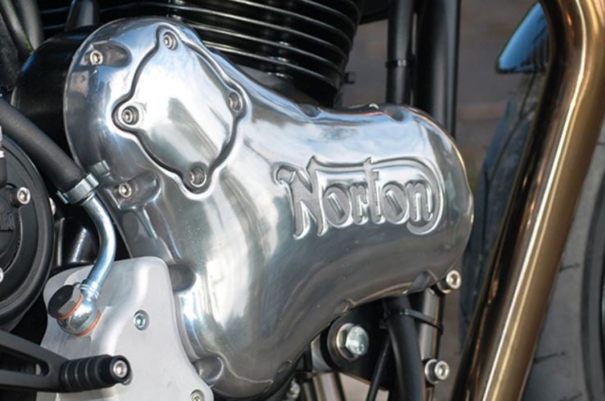 The Dominator shares its 80hp engine with the Cafe Racer.
