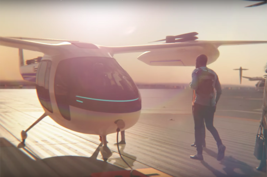 Uber flying taxi to be introduced in 2020
