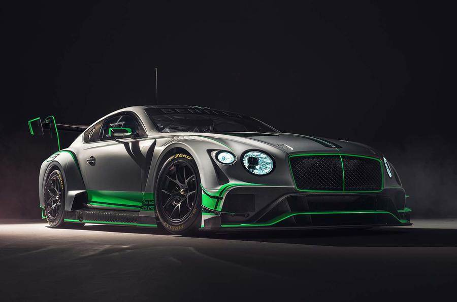 New Bentley Continental GT3 race car unveiled
