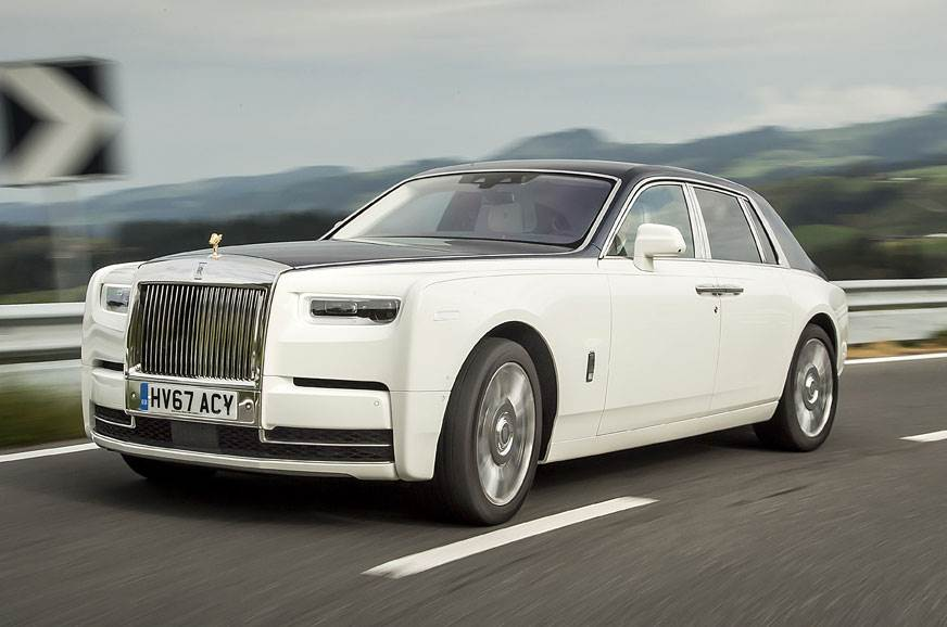 The current petrol-powered Rolls-Royce Phantom.