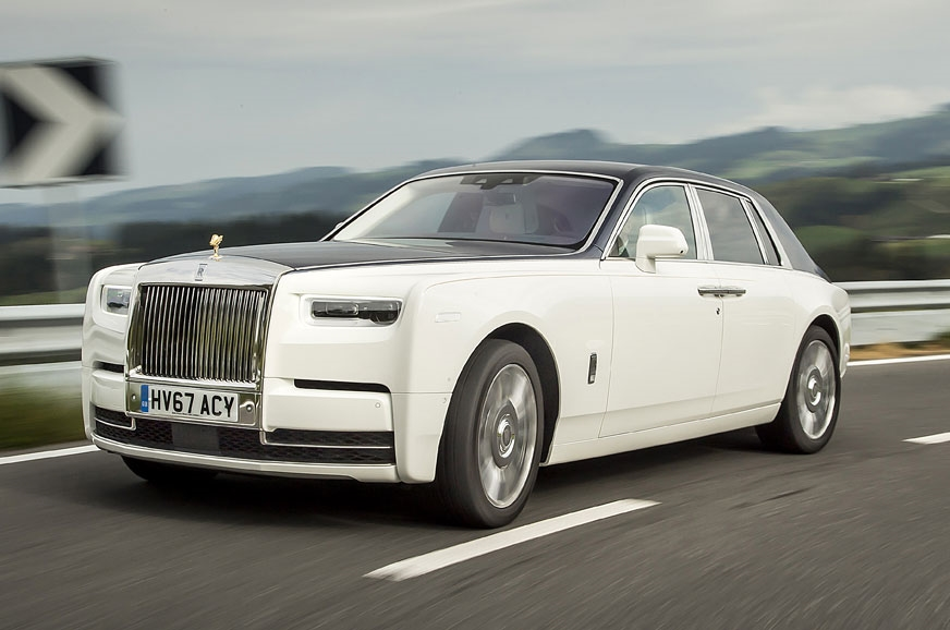 The current petrol-powered Rolls-Royce Phantom.