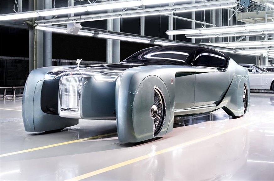 The all-electric Rolls-Royce Vision Next 100 concept that...