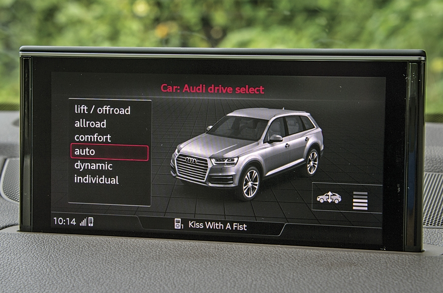 Q7 gives option to personalise vehicle characteristics.