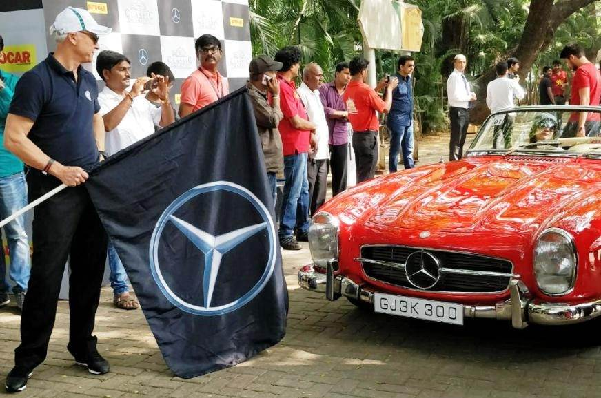 Record entries for Mercedes Classic Car Rally