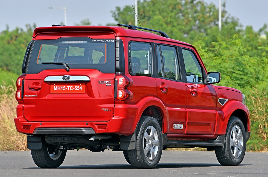 At the rear, the Scorpio completely does away with the pl...