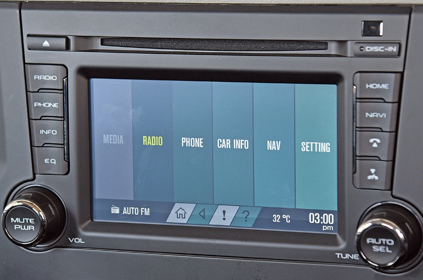 The touchscreen infotainment unit carries forward from th...