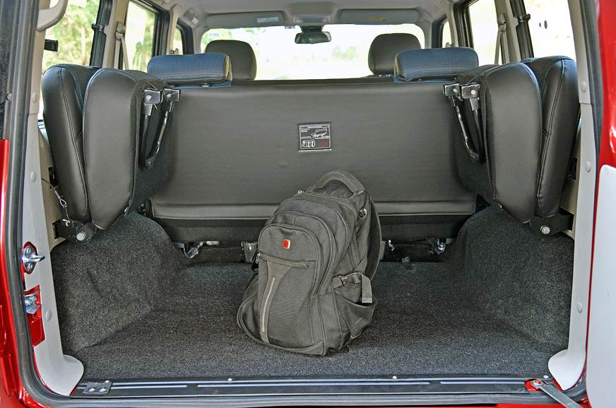 Boot space can be expanded further by folding and flippin...