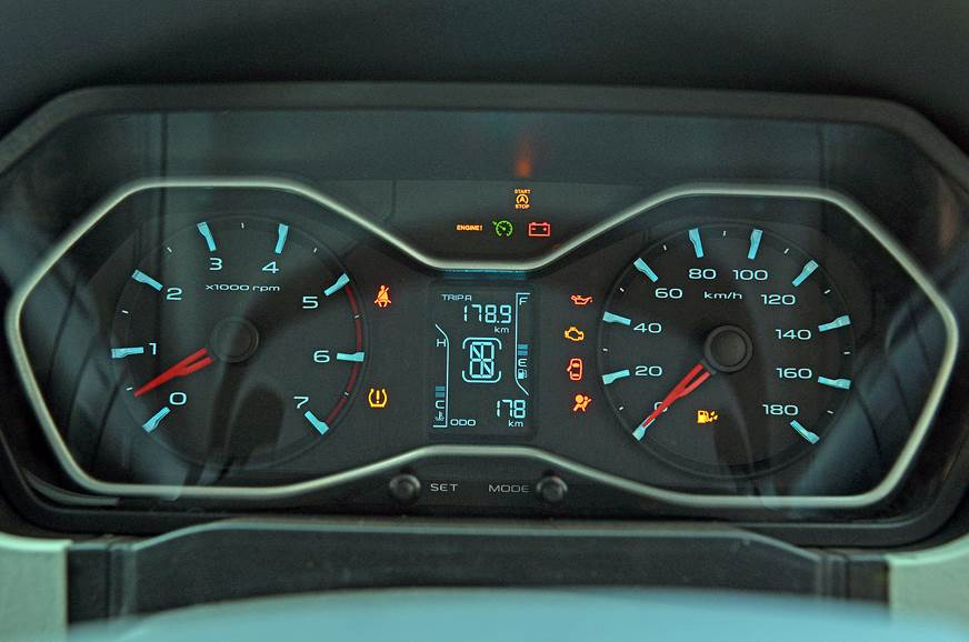 No changes made to the instrument cluster. The Scorpio fe...