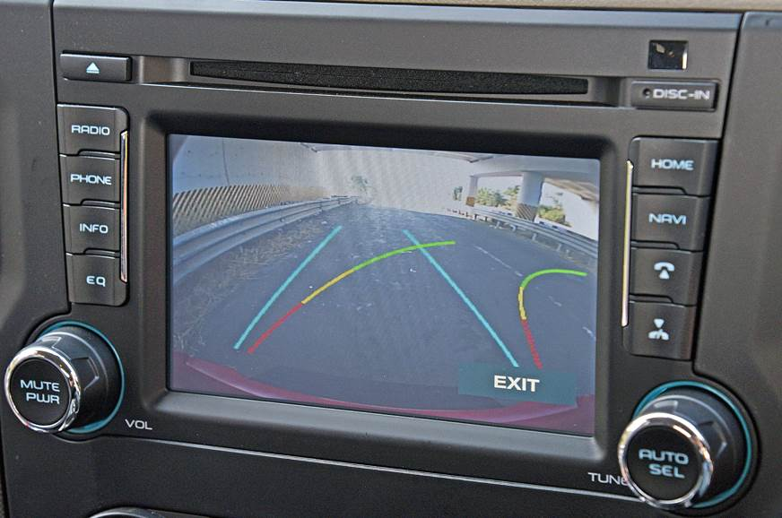 The reverse parking system now comes with dynamic guideli...