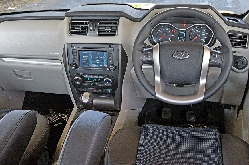 Changes to the interior are minimal. Scorpio offers a com...