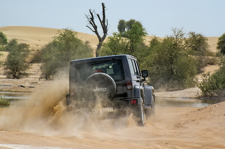 The Jeep Wrangler feels most comfortable off-road and was...