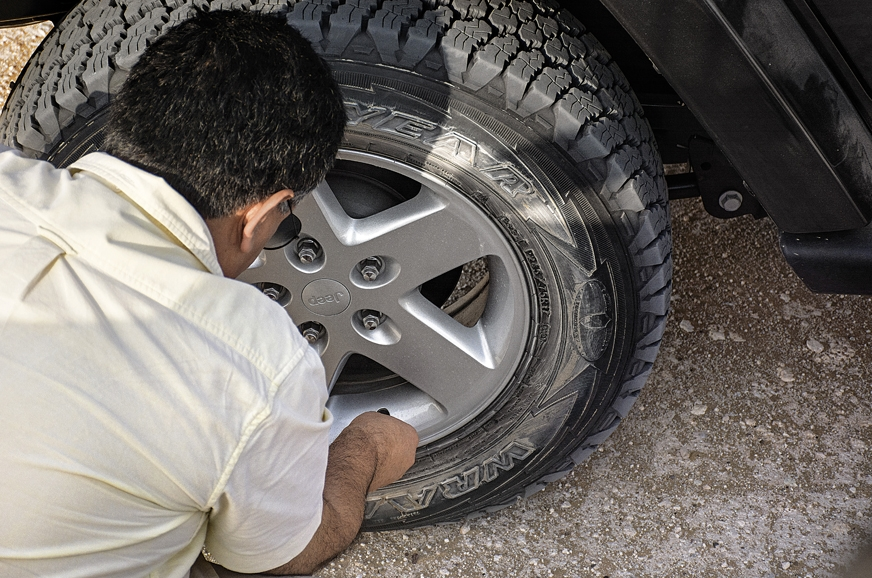 Dropping tyre pressure is crucial for desert driving.