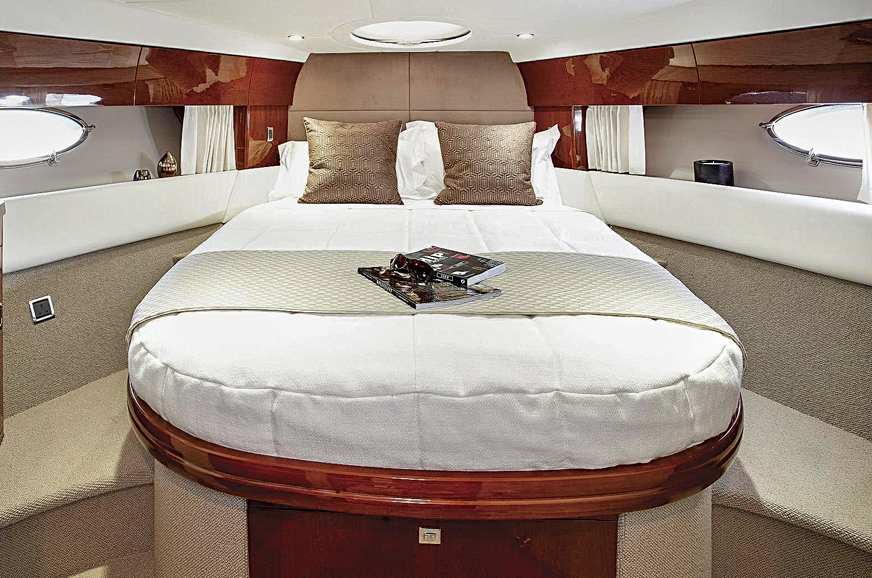 The boat has two cabins with en-suite bathrooms. This is ...