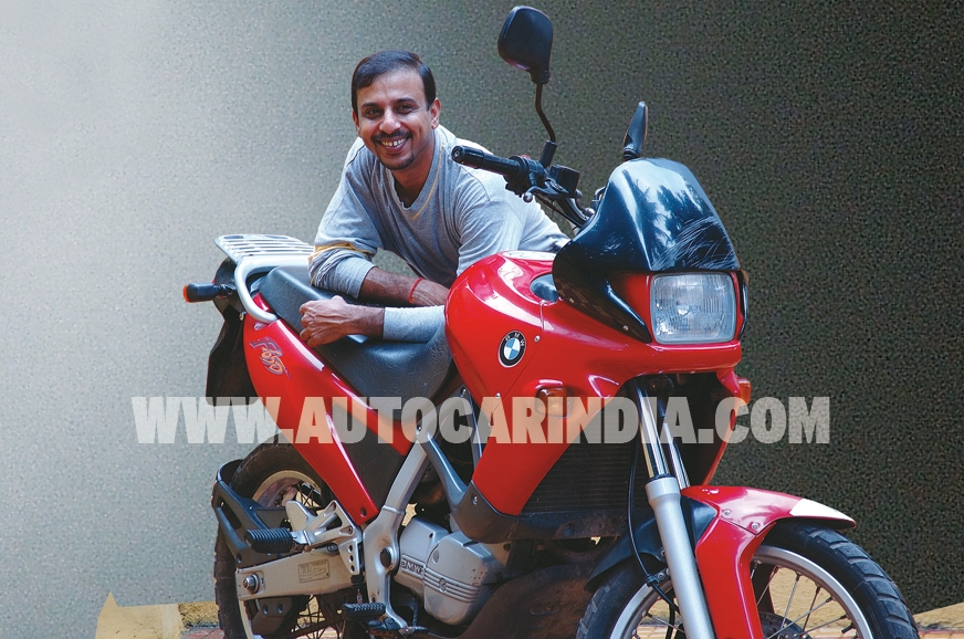 Sriram Iyer with his Funduro.