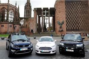Self-driving Tata Hexa begins testing in the UK