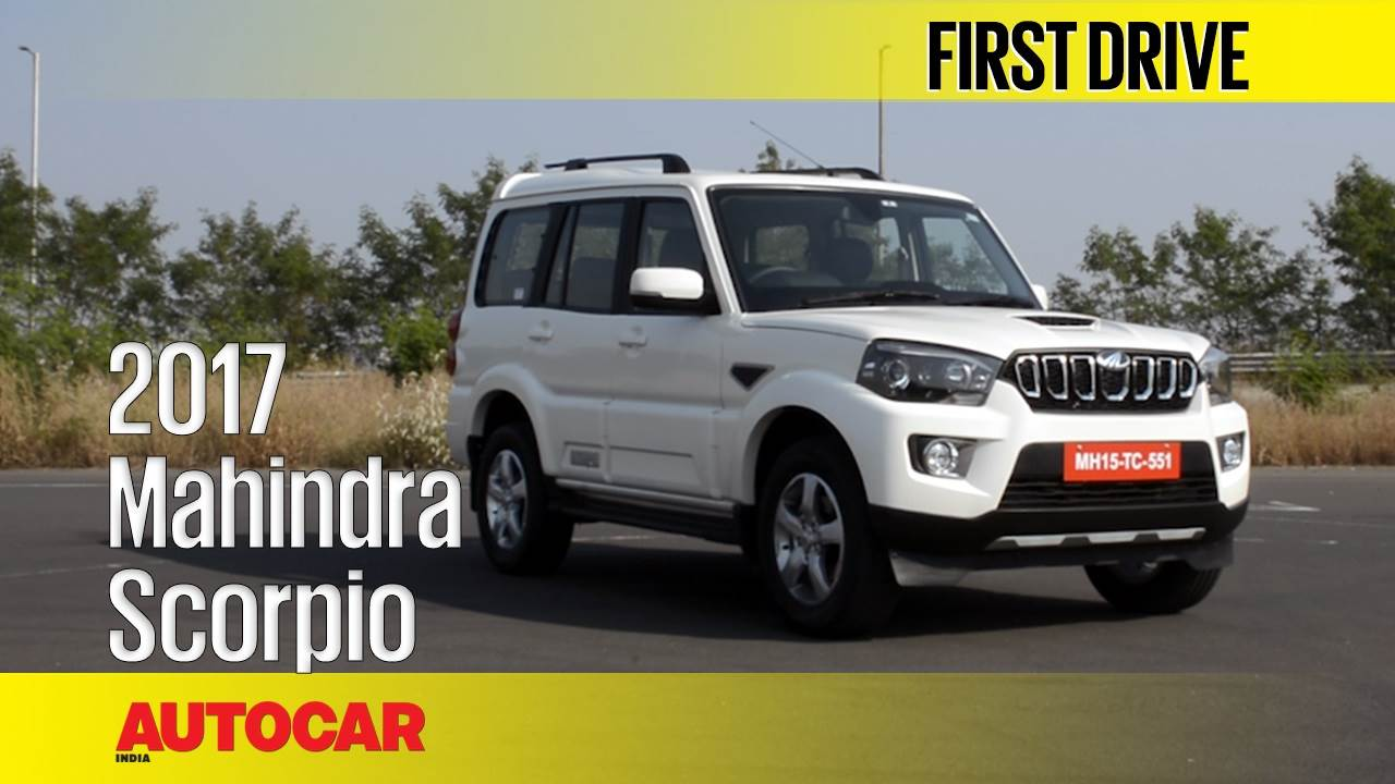 2017 Mahindra Scorpio facelift video review