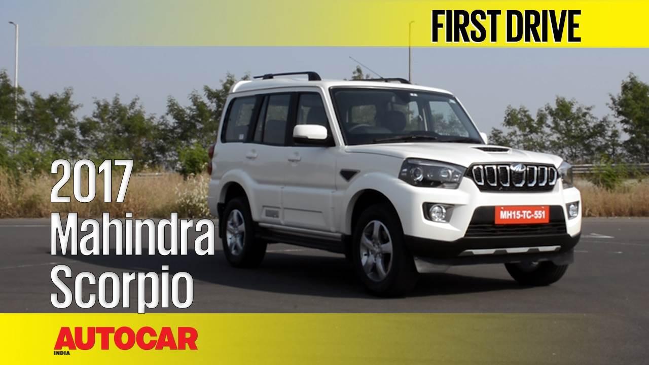 2017 Mahindra Scorpio facelift video review