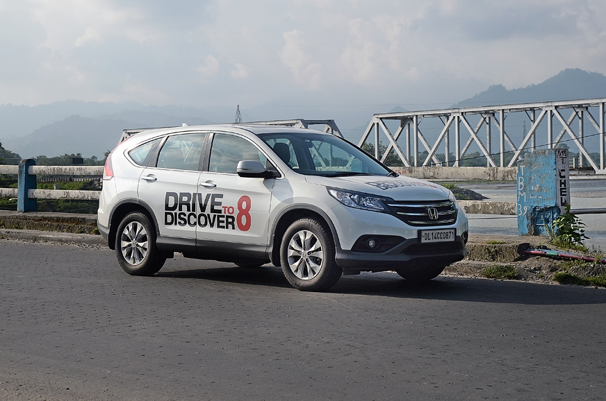The powerful Honda CR-V automatic gearbox made the drive ...