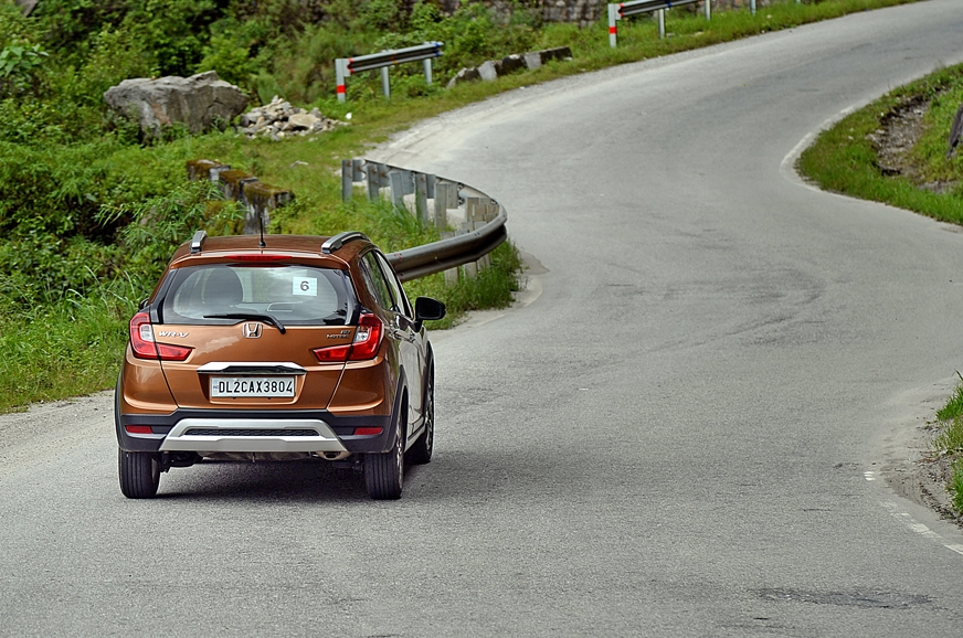 The smooth twisty roads were fun to drive in the Honda WR-V.