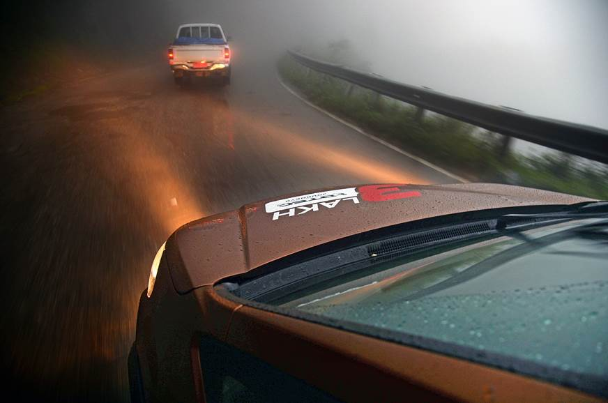 The WR-V's powerful headlights were most useful in the da...