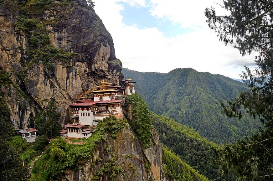 The Tiger's Nest perched comfortably on the side of a cli...