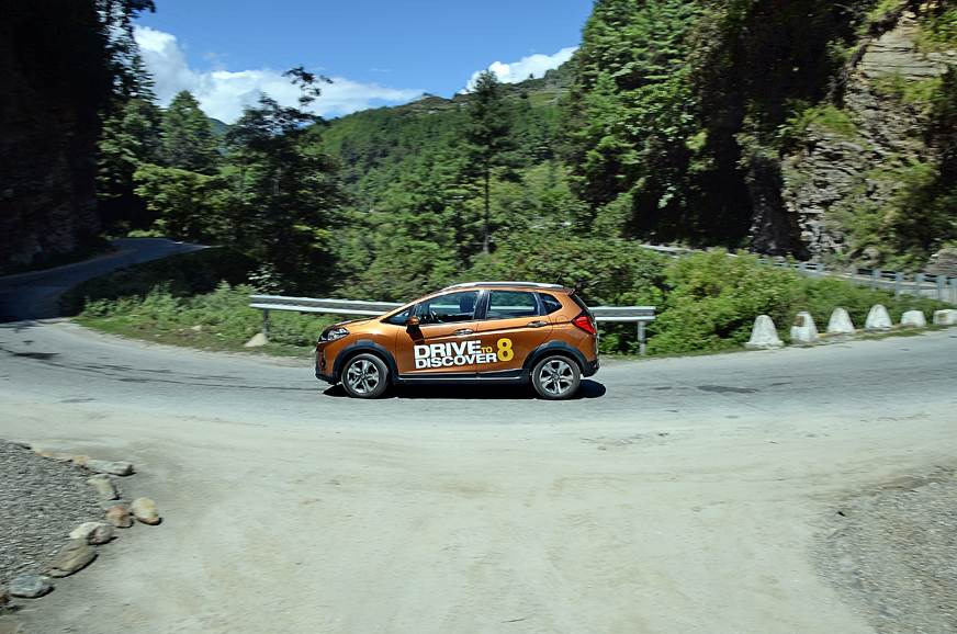 The WR-V in full flow amidst a beautiful countryside and ...