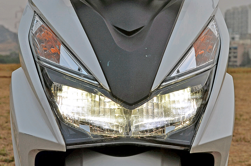 Grazia's LED headlight is a scooter-first.