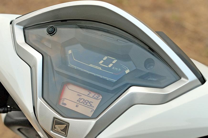 The Honda's digital instrument cluster.