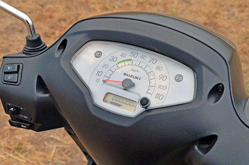 The Access 125 gets an analogue instrument cluster with a...