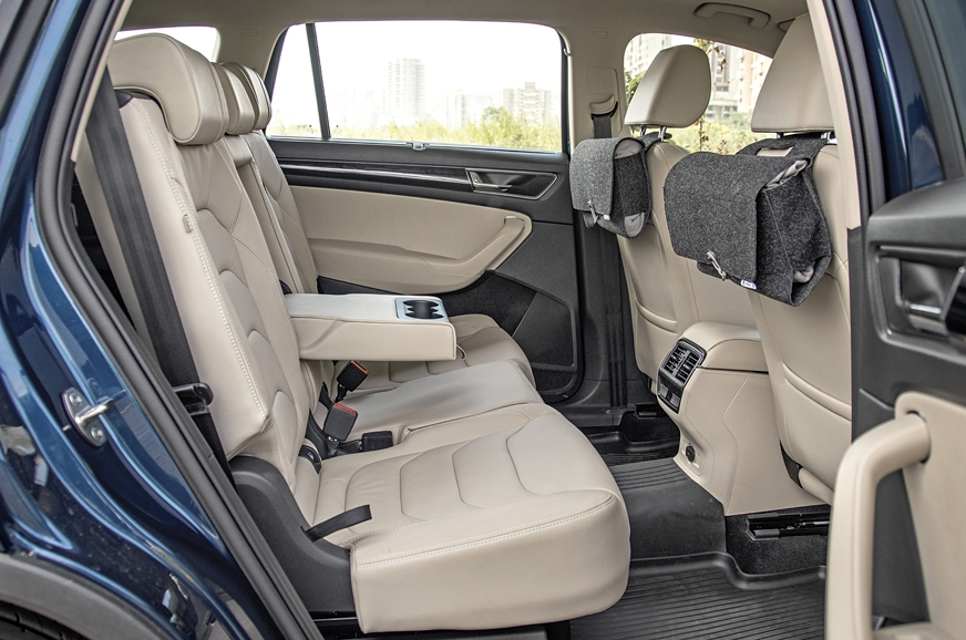 Kodiaq's rear seats are supportive and spacious.