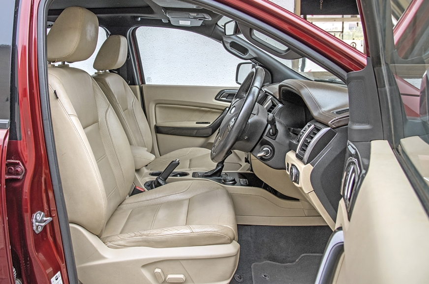 Hugely comfortable and well-cushioned front seats on the ...