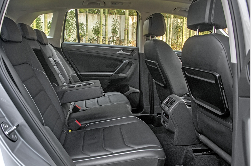 Space and comfort in the Tiguan's back is good.