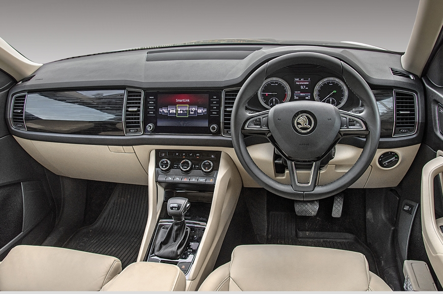 The dashboard layout is minimalistic and clean in true Sk...